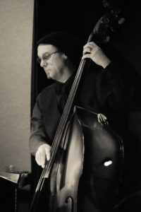 Tim Carmichael playing double bass